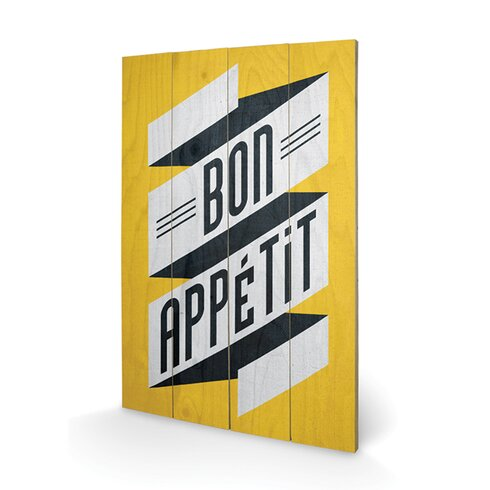 Bon Appetit by Edu Barba Typography Plaque