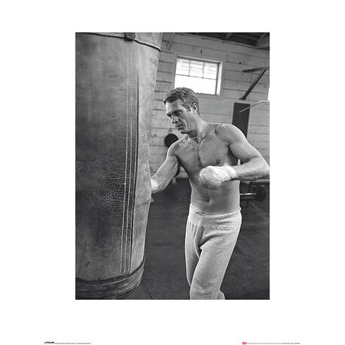 Time Life - Steve McQueen Boxing Photographic Print