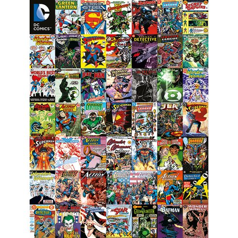 DC Comics Covers Montage Collage Canvas Wall Art