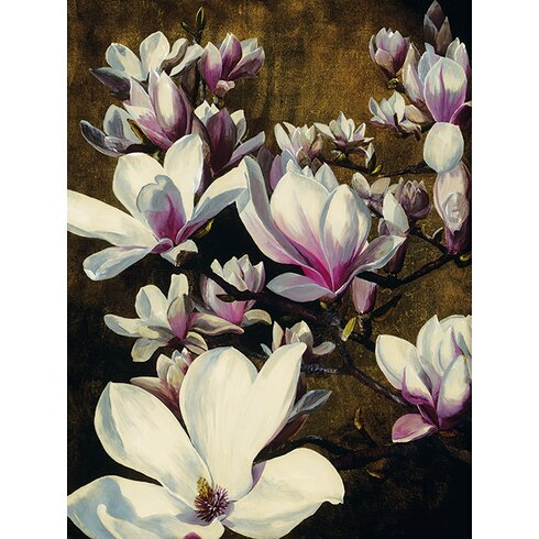 Magnolia Silk by Sarah Caswell Canvas Wall Art