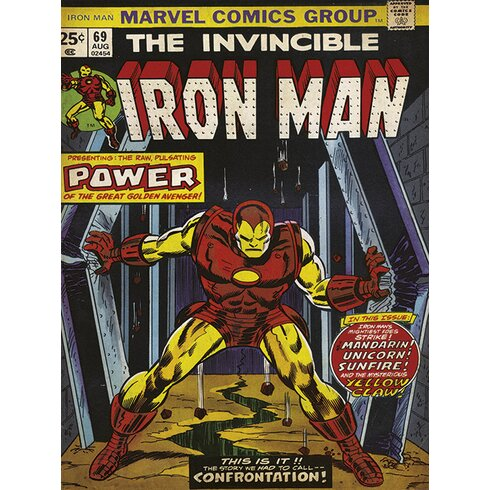 "Iron Man ""Power"" Vintage Advertisement Canvas Wall Art"