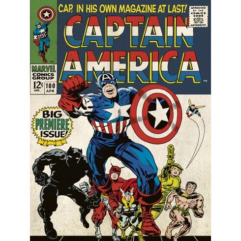Captain America Premier Poster Vintage Advertisement on Canvas