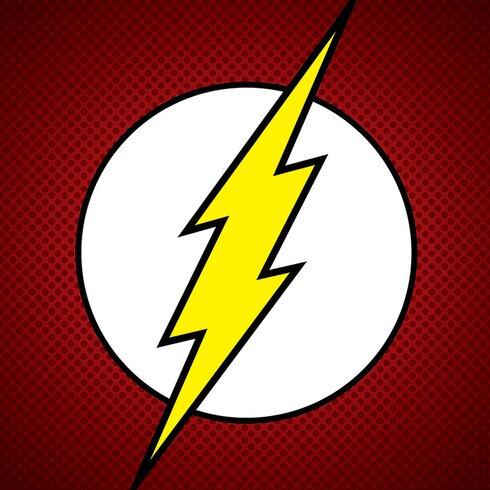 DC Comics The Flash Symbol Canvas Wall Art