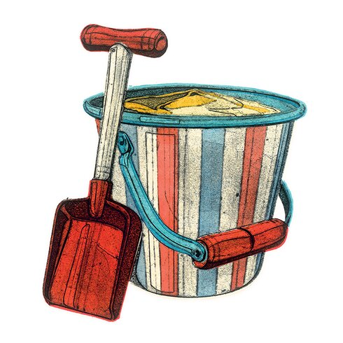 Bucket and Spade by Barry Goodman Canvas Wall Art