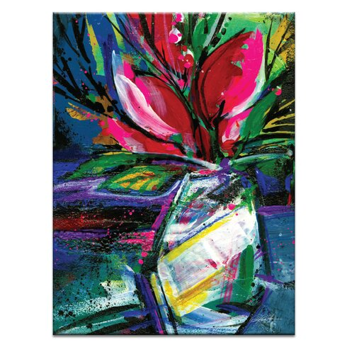 Floral Fantasy 3 by Kathy Morton Stanion Art Print Wrapped on Canvas