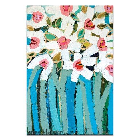 Blue Stems by Anna Blatman Art Print on Canvas