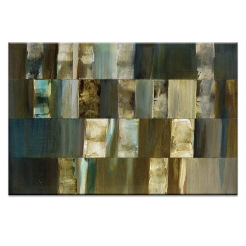 Near and Far 4 by Katherine Boland Art Print on Canvas in Brown
