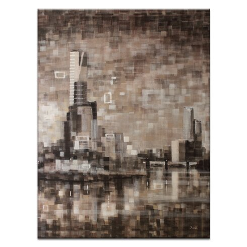 Yarra View II by Jennifer Webb Art Print on Canvas in Brown/Black