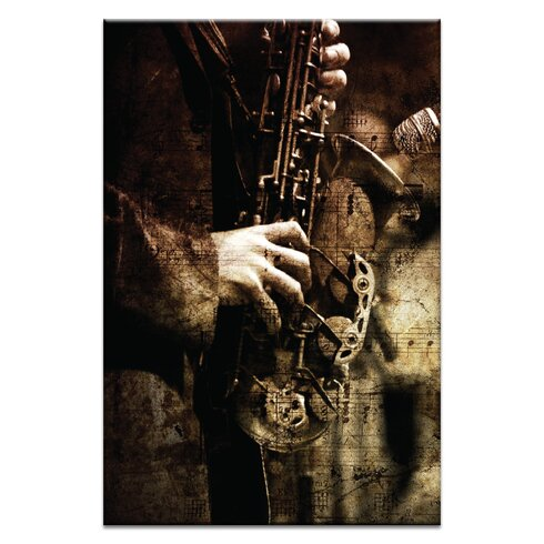 Old Sax by Caroline Gorka Photographic Print Wrapped on Canvas