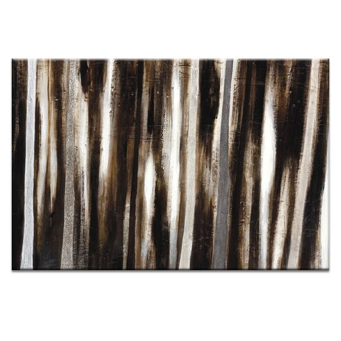 Treeline #7 by Katherine Boland Art Print Wrapped on Canvas in Black/Grey