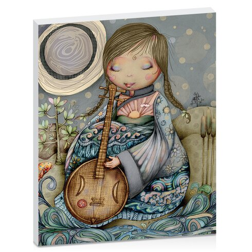 Moon Guitar by Karin Taylor Art Print Wrapped on Canvas