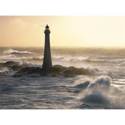 Phare De Skerryvore, Scotland by Jean Guichard Photographic Print on Canvas