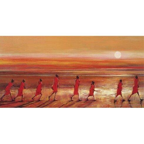 Samburu Sunset by Jonathan Sanders Art Print on Canvas