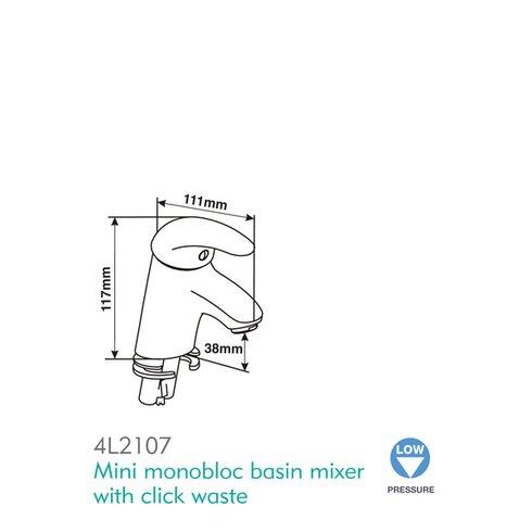 Signia Monobloc Basin Mixer