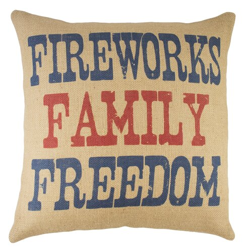 Burlap Pillow 4th of July Celebration