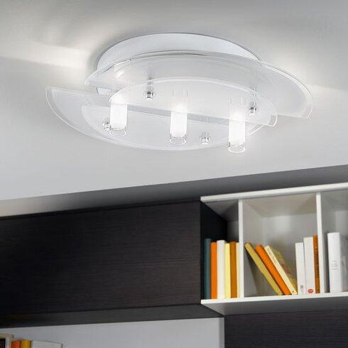 Vallerano 3 Light Flush Ceiling Light