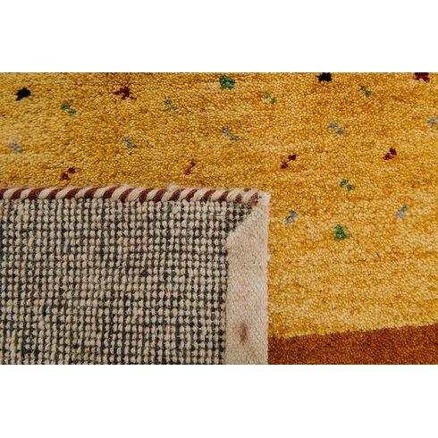 Handgeknüpfter Teppich Indo Gabbeh Aria in Terra