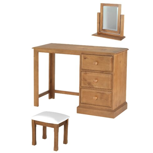 Heritage Hendon 3 Drawer Dressing Table Set with Mirror