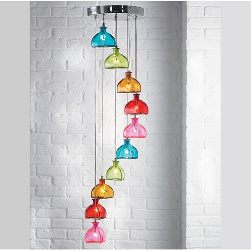 10 Light Cascade Pendant