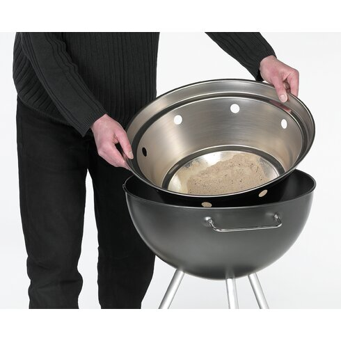 93cm H Kettle Charcoal Barbecue with Grid Grill