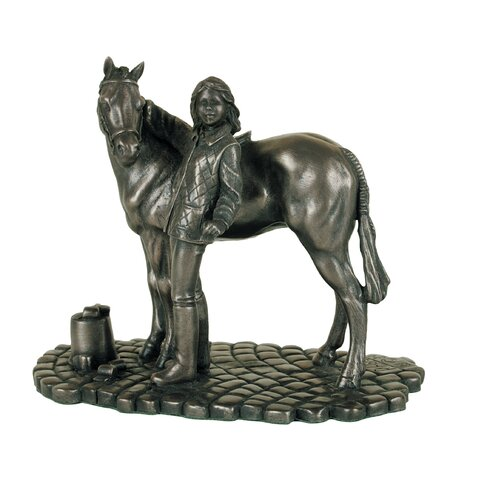 Girl and Pony Figurine