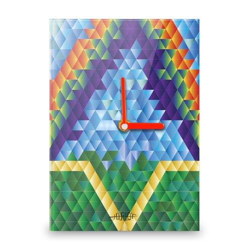 Rainbow Diamonds Large Wall Clock