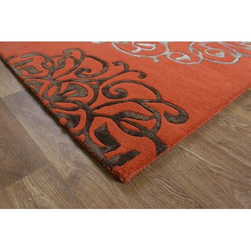 Matrix Hand-Woven Terracotta Area Rug