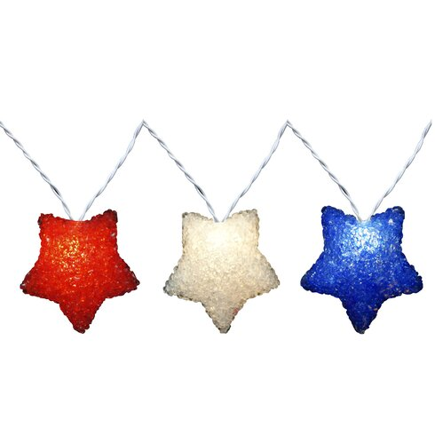 Red white and blue string lights 4th of July Celebration