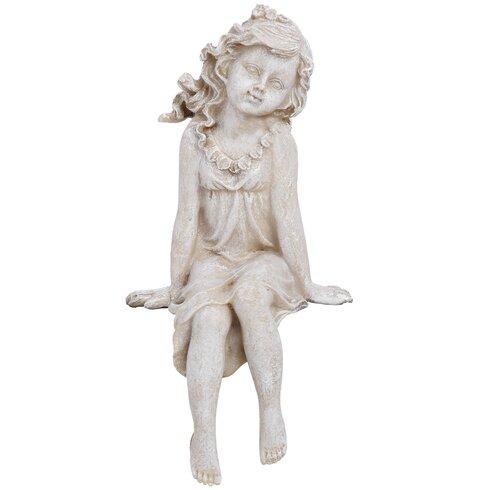 Seated Fairy Shelf Sitter Figurine