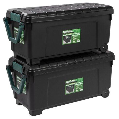 remington 42 gallon heavy duty storage trunk with wheels