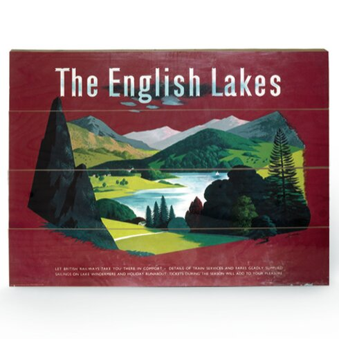 The English Lakes Vintage Advertisement Plaque