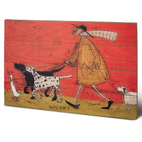 Walkies by Sam Toft Art Print Plaque