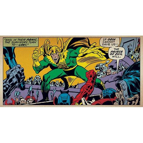 Marvel Comics Loki - Prince Of Evil Canvas Wall Art