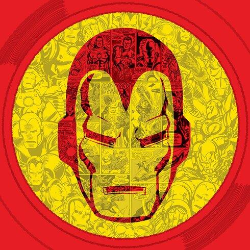 Marvel Comics Iron Man Helmet Collage Canvas Wall Art