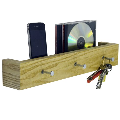 Wall Mounted 3 Key Holder / Picture Shelf