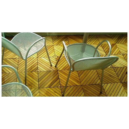 """Acacia Hardwood 11.22"""" x 11.22"""" Interlocking Deck Tile"""
