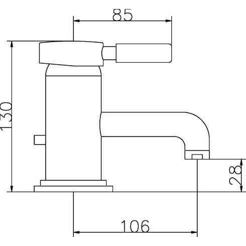 Tec Monobloc Basin Mixer