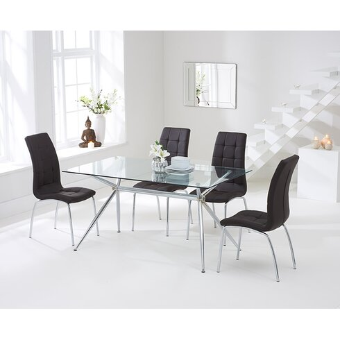 Santorini Dining Set with 4 Chairs