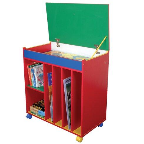 Primary Coloured 81.5cm Book Cart