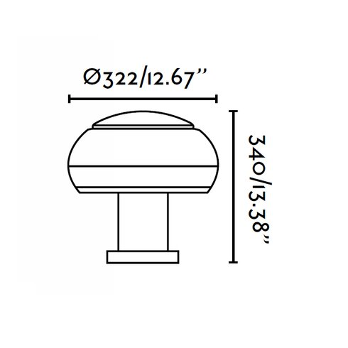 Boletus 3 Light Pier Mount