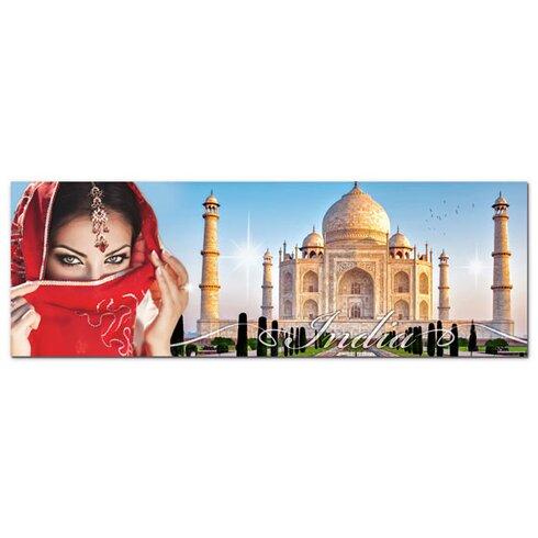 Acrylglasbild Frau, Indien