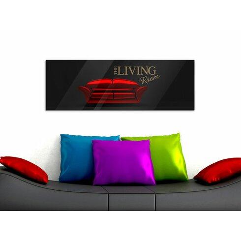 Acrylglasbild The Living Room, Sofa