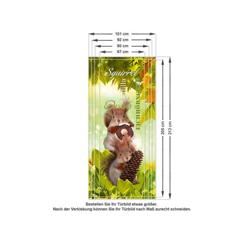 Türaufkleber Eichhörnchen