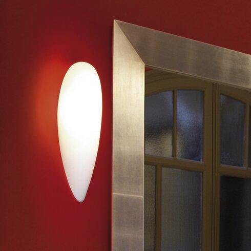 Glass Large 1 Light Flush Wall Light