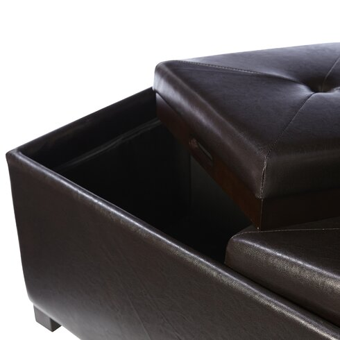 Leslie Double Tray Storage Ottoman - Andover Mills Leslie Double Tray Storage Ottoman & Reviews Wayfair