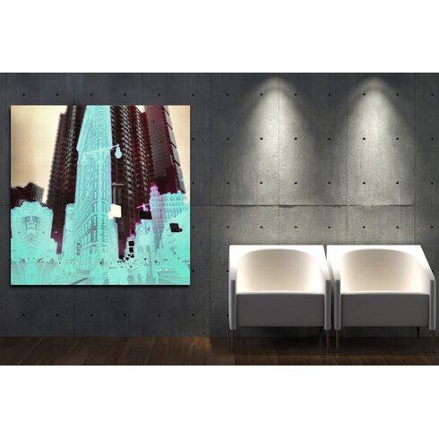 Plastic Metropolis Art Print on Canvas