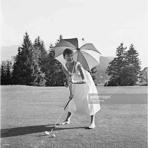 Golfing Hepburn by Hulton Archive Photographic Print