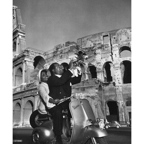 Jazz Scooter by Slim Aarons Photographic Print
