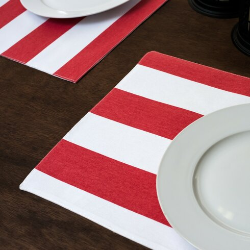 red and white striped placemat 4th of July Celebration