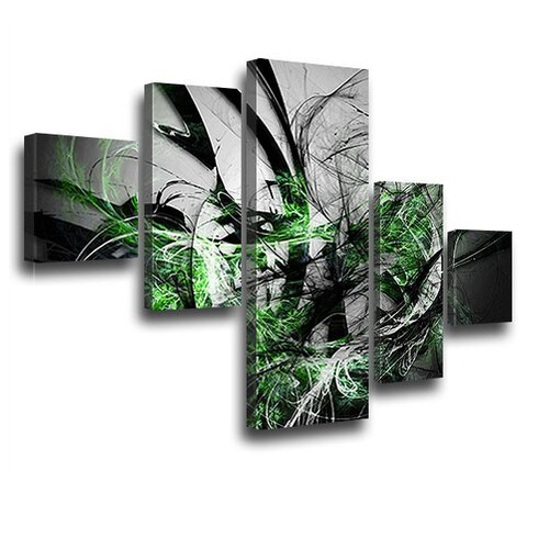 Grow 5 Piece Graphic Art on Canvas Set